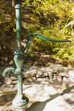 Old fashioned water pump in the forest Stock Images