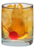 Old Fashioned on white Stock Image