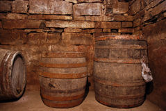 Old Fashioned Wine Cellar Royalty Free Stock Photos