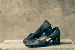 Old fashioned woman shoes Royalty Free Stock Photos