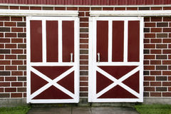Old fashioned wooden barn doors background Stock Images
