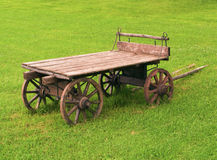 Old-fashioned wooden cart Royalty Free Stock Images