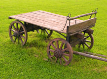 Old-fashioned wooden cart Royalty Free Stock Image