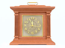 OLd-Fashioned Wooden Clock Royalty Free Stock Photo