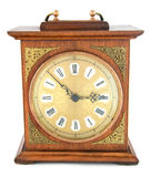 An old fashioned, wooden clock. Royalty Free Stock Photography