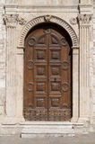 Old-fashioned wooden door Royalty Free Stock Image