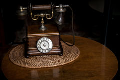 Old fashioned wooden telephone Royalty Free Stock Images