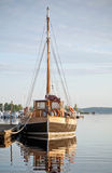 Old fashioned wooden yacht Stock Photos