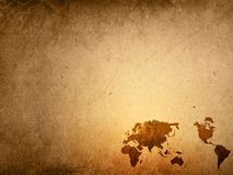 Old-fashioned World map Royalty Free Stock Photography
