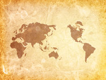 Old-fashioned World map Stock Images