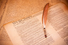 Old fashionet American Constitution. On parchment paper Stock Images