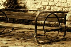 Old-fashoined bench Stock Photo