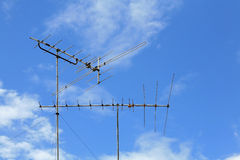 Old-fasioned Home TV Antenna Stock Photography