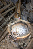 Old fasioned thai stove. Stand on ground Stock Image
