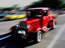 Old but fast. Picture of the old car with motion blur for the effect Stock Photography