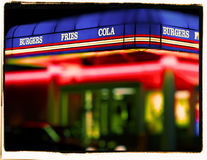 Old fast food join Royalty Free Stock Photography