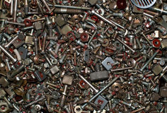 Old fasteners Stock Photos