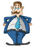 Old Fat Businessman Stock Photo