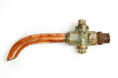 Old faucet for gasoline Stock Images