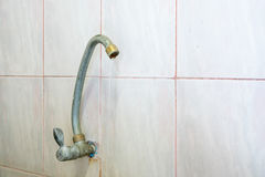 Old faucet leak in bathroom Royalty Free Stock Images