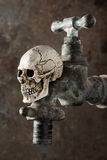 Old faucet wih skull Royalty Free Stock Photography