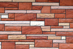 Old faux brick Stock Photos