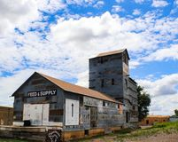 Old Feed & Supply store in Clayton New Mexico USA 7 - 31 - 2017 stock photo