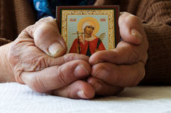 Old female hands Royalty Free Stock Image