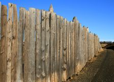 Old fence. Very old weatherbeaten wooden fence Stock Images