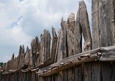Old fence. In Jameston, Virginia, USA Stock Photos
