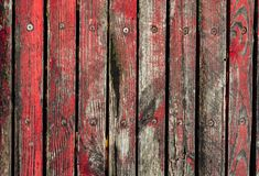 Old fence boards. Benches, painted, paint will cloud and deteriorate with time, color Royalty Free Stock Images