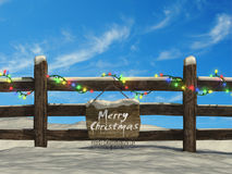 Old fence at Christmas Royalty Free Stock Photography