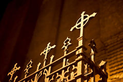 Old fence of a church Royalty Free Stock Photography