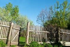 Old fence on a farm Royalty Free Stock Photos