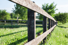 Old fence fragment Royalty Free Stock Photo