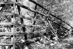 The old fence in Harz b&w Royalty Free Stock Photography
