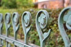 An old fence in Karlovy Vary Stock Images