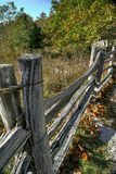 Old fence line Stock Images