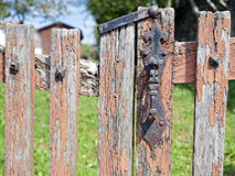 Old fence with a lock Royalty Free Stock Image