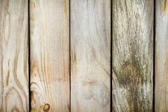 Old fence made ​​of weathered boards Royalty Free Stock Images