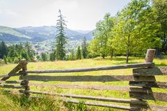 Old fence in the mountains Royalty Free Stock Photos