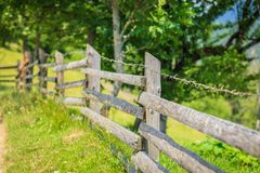 Old fence in the mountains Royalty Free Stock Image
