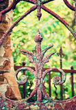 Old fence. Ornamental grille of an old fence in old town Stock Image