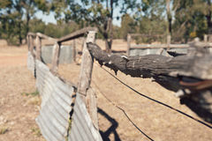 Old fence in outback Australia Stock Photo