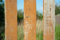 Orange grunge old fence royalty free stock photography