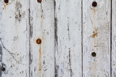Old fence painted in white paint Royalty Free Stock Photos