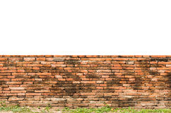Old fence red brick wall surface Royalty Free Stock Images