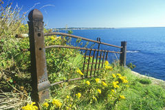 Old fence ruins, Newport, RI Royalty Free Stock Images