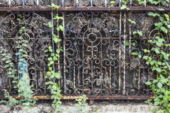 Old fence with rust and moss Royalty Free Stock Photos