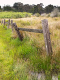 Old Fence, Tilting Stock Image